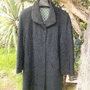 "Jackets & Blazers - Nice Broadtail Fur Swing Stroller 50""Bust 73""Sweep"